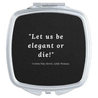 Louisa peut Alcott, petite citation de femmes Miroirs À Maquillage