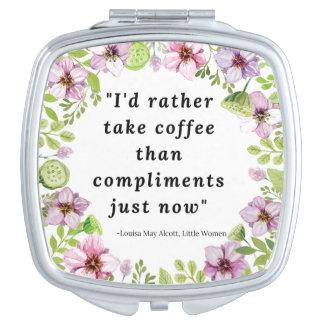 Louisa peut Alcott, petite citation de femmes Miroirs Compacts