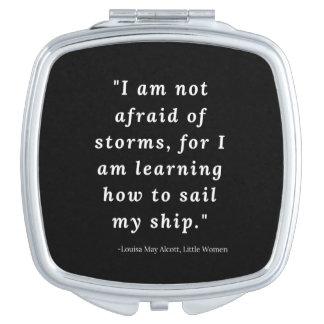 Louisa peut Alcott, petite citation de femmes Miroirs De Maquillage