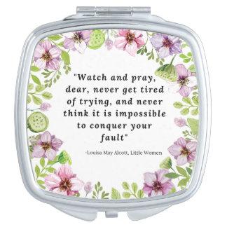 Louisa peut Alcott, petite citation de femmes Miroirs De Poche