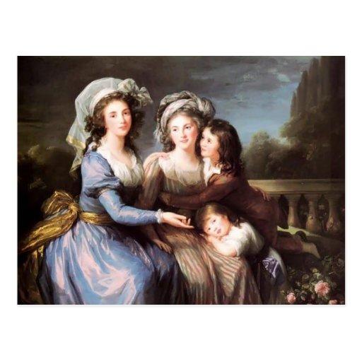 louise elisabeth marquis de roug avec ses fils cartes postales zazzle. Black Bedroom Furniture Sets. Home Design Ideas
