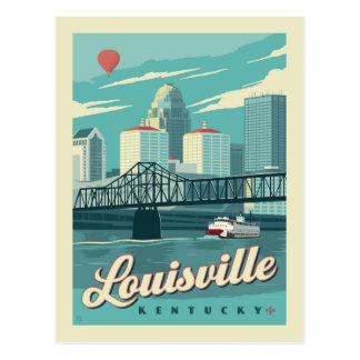 Louisville, économies de Kenucky | la date Carte Postale