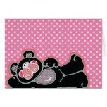 lounging l'ours rose et noir cartes