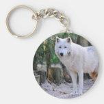 Loup arctique dans la forêt porte-clef