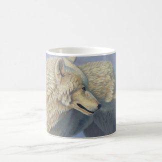 "Loup blanc ""de regard fixe arctique"" - mug"