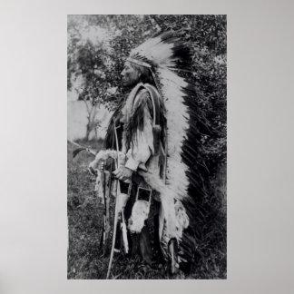 Loup blanc, un chef de Comanche, c.1891-98 Poster