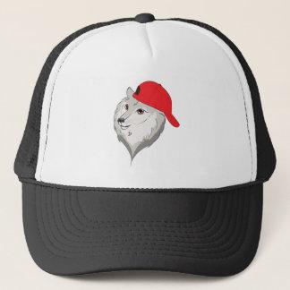 Loup dans la casquette de baseball
