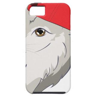 Loup dans la casquette de baseball coque iPhone 5