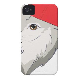 Loup dans la casquette de baseball coques iPhone 4