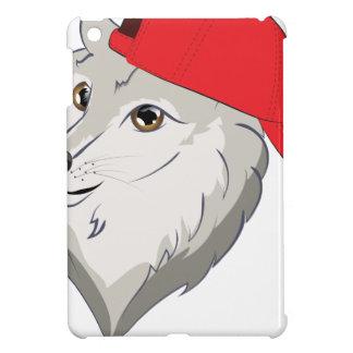 Loup dans la casquette de baseball coques pour iPad mini