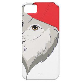 Loup dans la casquette de baseball étui iPhone 5