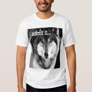 Loup dans l'habillement du loup t-shirt