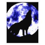 Loup d'hurlement à la lune prospectus en couleur