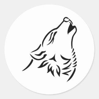 Loup d'hurlement adhésifs ronds
