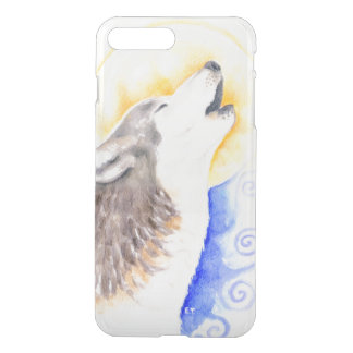 Loup d'hurlement coque iPhone 7 plus