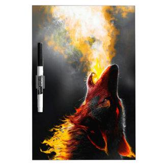 Loup du feu tableau blanc effaçable à sec
