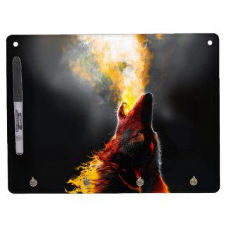 Loup du feu tableau effaçable à sec