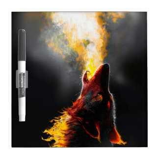 Loup du feu tableaux blancs  effaçables à sec