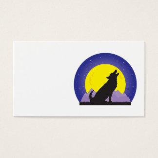 Loup et lune cartes de visite