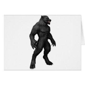 Loup-garou #2 carte de vœux