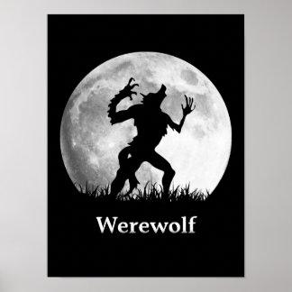 Loup-garou à la pleine lune - Halloween frais Poster
