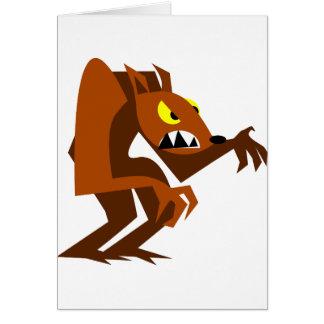 Loup-garou Carte De Vœux