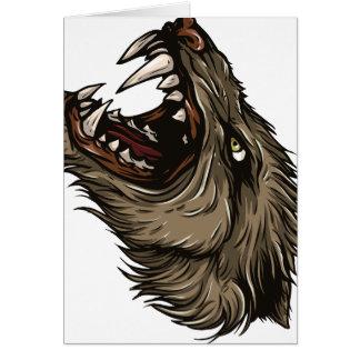 Loup-garou fâché carte de vœux
