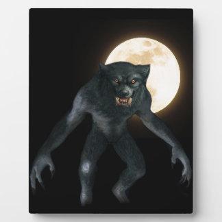 Loup-garou Plaque Photo