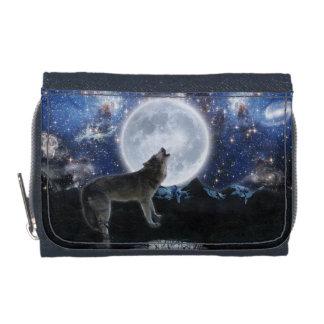 Loup gris d'hurlement et art étoilé de faune de