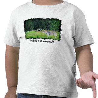 Loup gris et T-shirt d'Alaska d'art de faune de fo