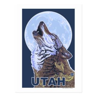 Loup gris HowlingUtah Carte Postale