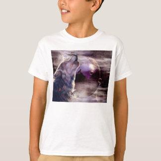 Loup hurlant à la lune t-shirt