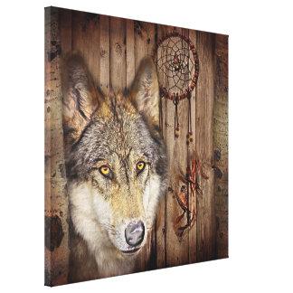 Loup indien indigène de receveur rêveur occidental toile