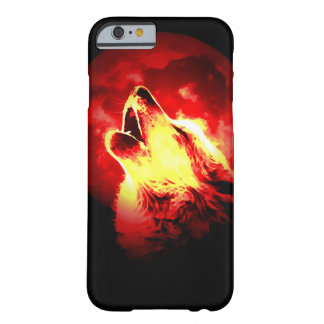 Loup, lune et ciel rouge coque iPhone 6 barely there