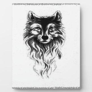 Loup sauvage plaque photo