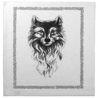 Loup Serviettes En Tissus