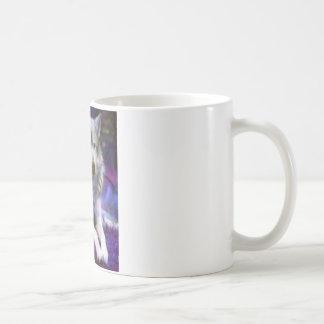 Loup seul mug blanc