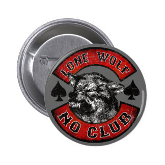 Loup solitaire pin's