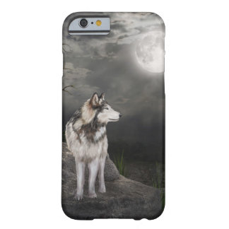Loup sous une pleine lune coque barely there iPhone 6