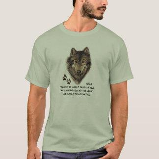Loup, totem animal de loups, guide de nature t-shirt