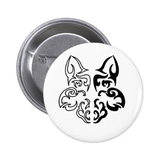 Loup tribal badges avec agrafe