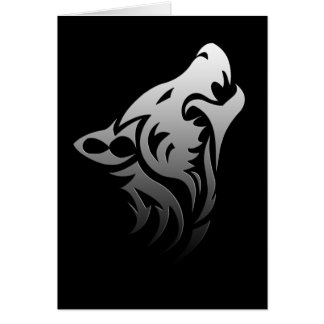 Loup tribal carte de vœux