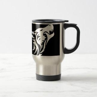 Loup tribal mug de voyage