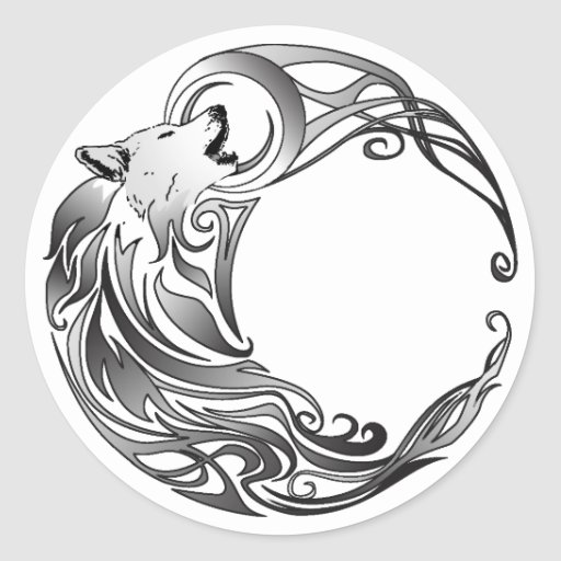 pin tatouage loup lune on pinterest. Black Bedroom Furniture Sets. Home Design Ideas