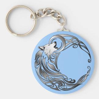 Loup tribal - ombragé porte-clef