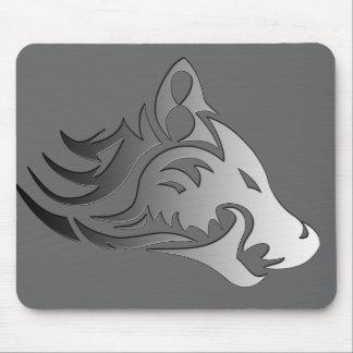 Loup tribal tapis de souris