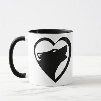 Loups d'amour (logo de série d'embrayage de San Mug
