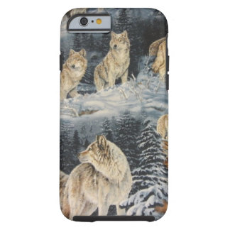 Loups d'hiver coque iPhone 6 tough