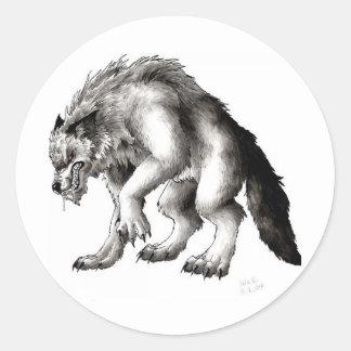 loups-garou adhésif rond