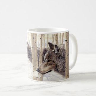 "Loups ""parmi trembles"" - mug"